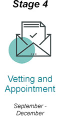 Vetting and appointment